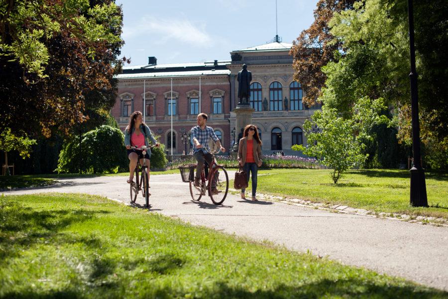 Foto: Cecilia Larsson Lantz Studenter som cyklar