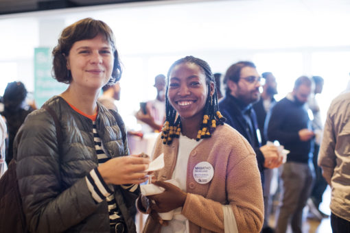 Two female SI scholarship holders from South Africa at the SI kick-off event 2019 in Stockholm.