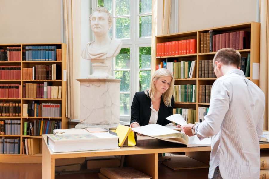 Students at Uppsala University in Sweden
