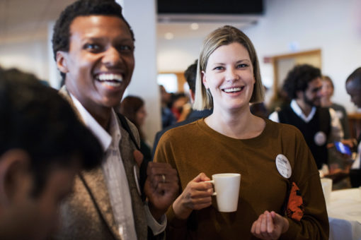Two SI scholarship holders from South Africa at the SI kick-off event 2019 in Stockholm.