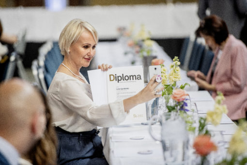 Previous SI scholarship holder within the Visby Programme at the Diploma Ceremony 2019.