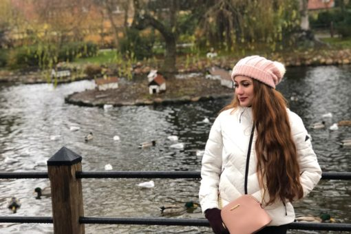Zarifa Behbudzada in front of a lake