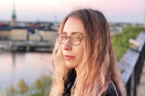 SI scholarship holder Alina Veksler outdoor in Stockholm.