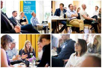 Bildkollage som föreställer deltagare i tidigare omgång av Svenska Institutets managementprogram Norra Europa.