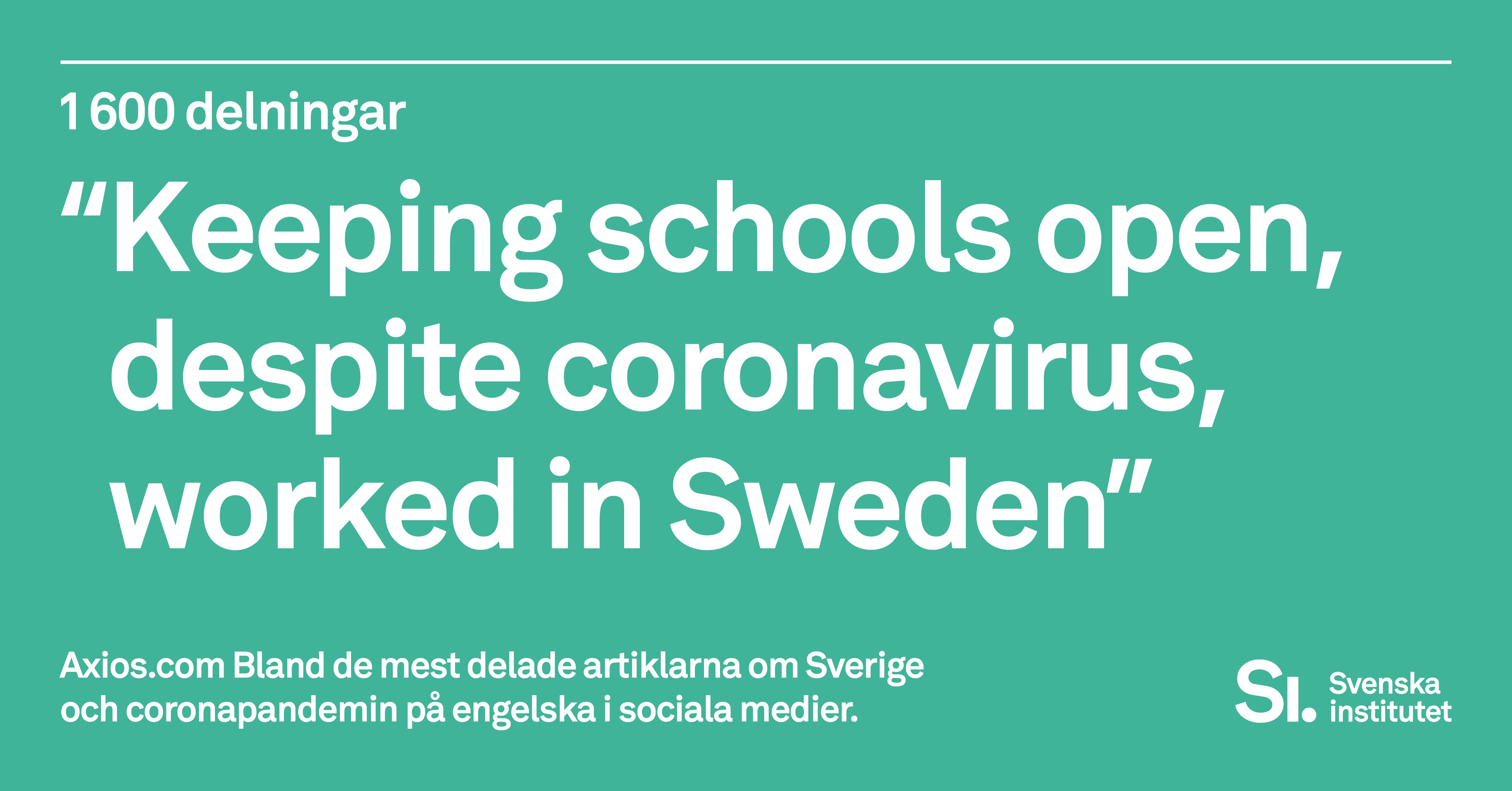 Sverige Och Covid 19 I Internationell Nyhetsrapportering Svenska Institutet