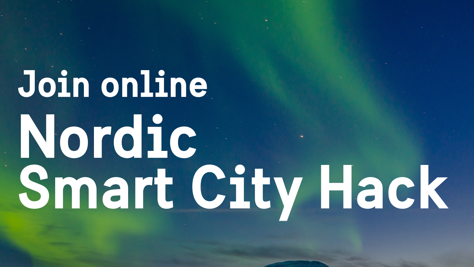 Text: Nordic Smart City Hack