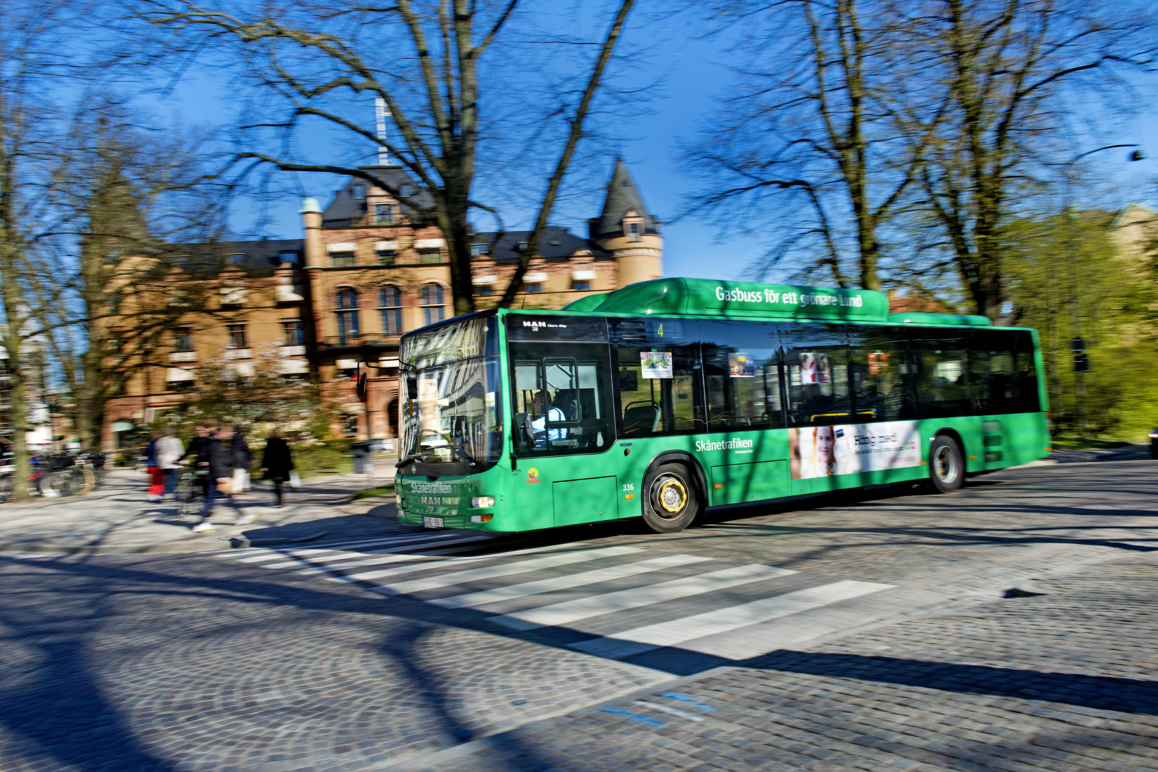 Bus running on methane