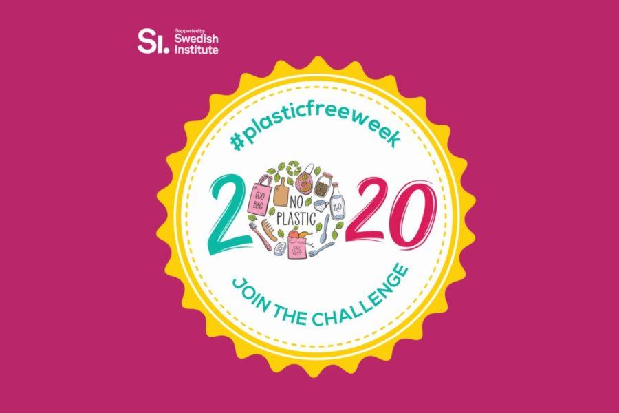 Pink plasticfreeweek logo