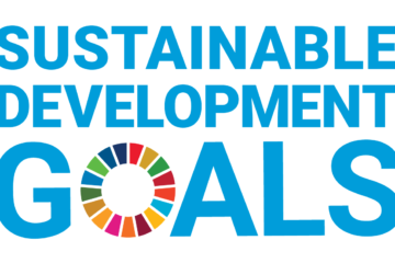 Graphic illustration showing the text Sustainable Development Goals