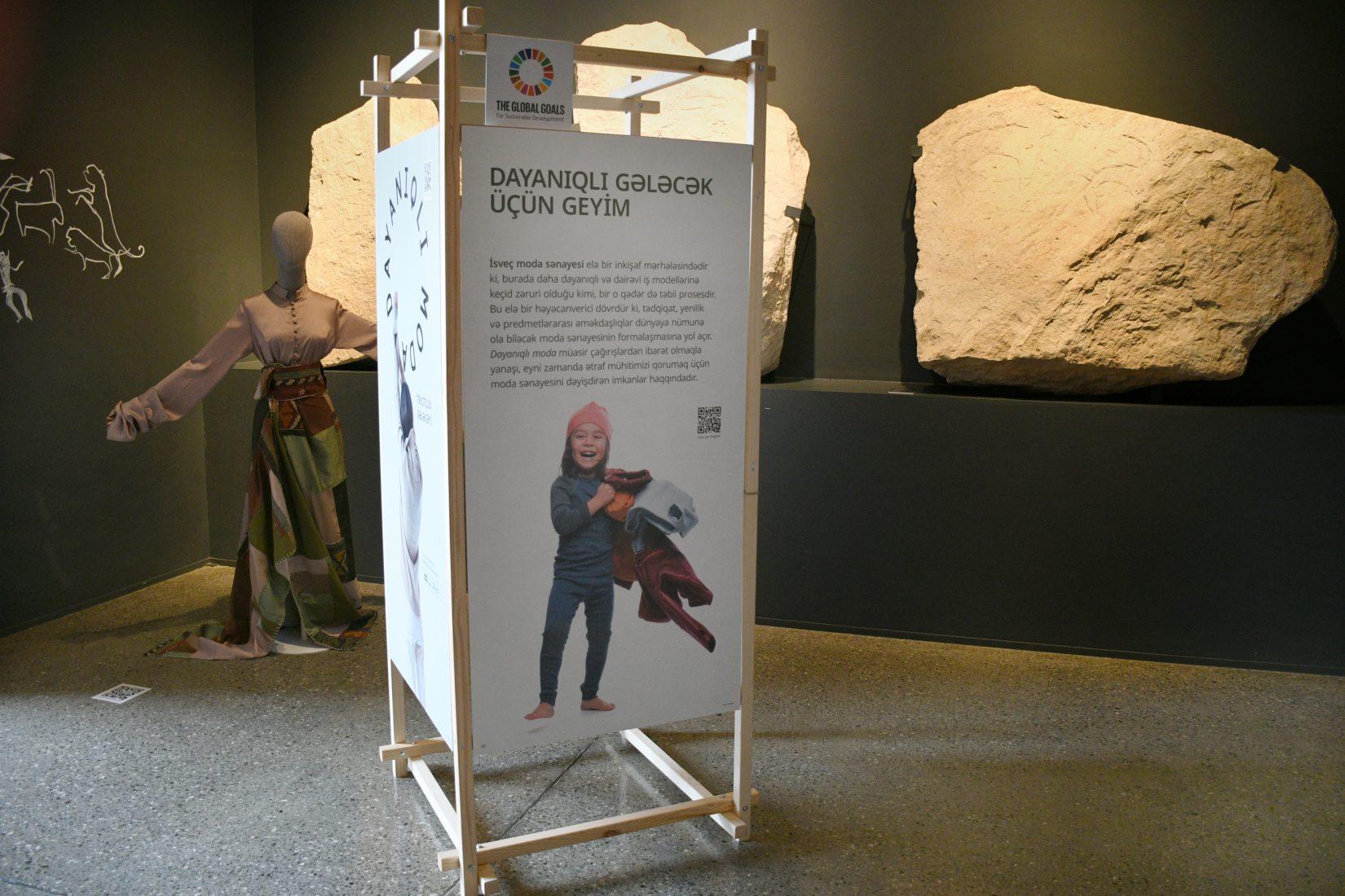 En utställningsmodul på museet i Baku