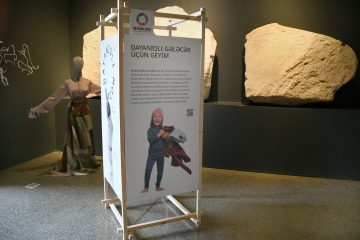 An exhibition modul at the museum in Baku