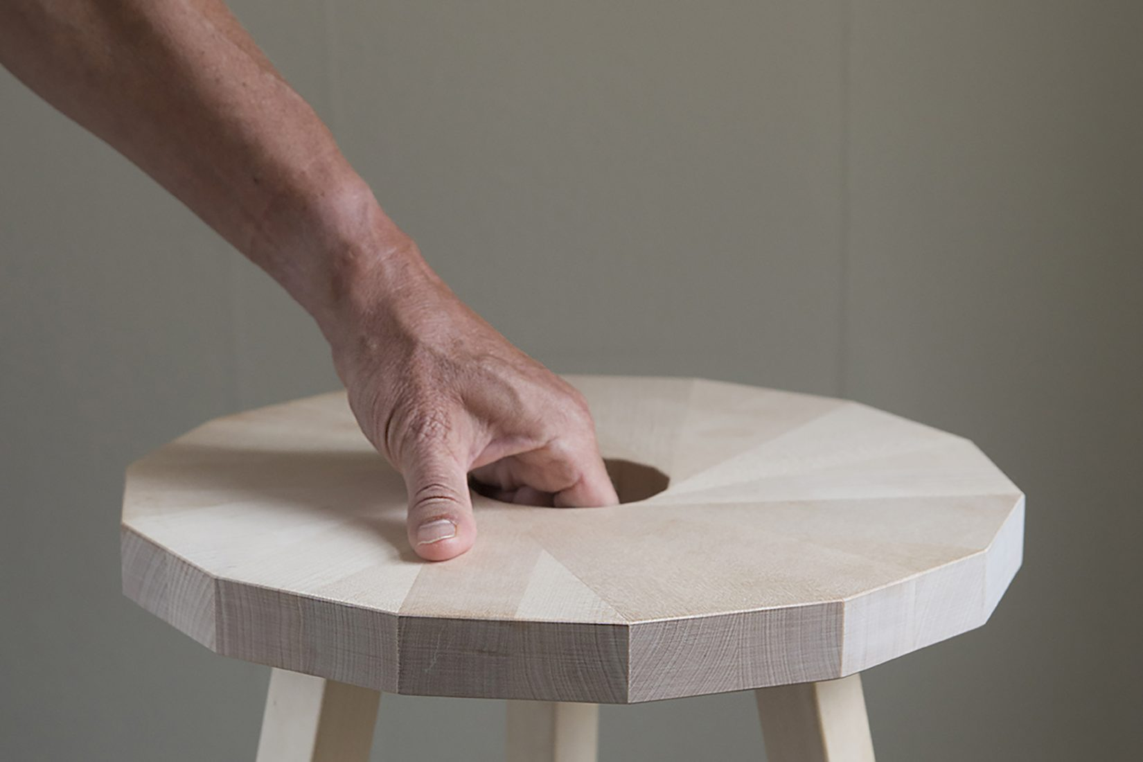 Small stool made through sustainable production